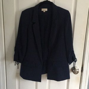 Loft Navy Blazer with Ties on Sleeves